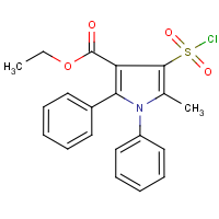 CAS:1065103-48-1 | OR0140 | Ethyl 4-(chlorosulphonyl)-1,2-diphenyl-5-methyl-1H-pyrrole-3-carboxylate