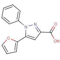 CAS:100537-55-1 | OR01493 | 5-(Fur-2-yl)-1-phenyl-1H-pyrazole-3-carboxylic acid