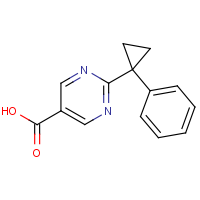 CAS: | OR111310 | 2-(1-Phenylcyclopropyl)pyrimidine-5-carboxylic acid