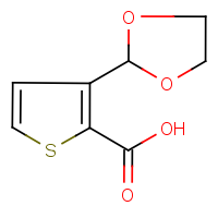 CAS:934570-44-2 | OR12384 | 3-(1,3-Dioxolan-2-yl)thiophene-2-carboxylic acid