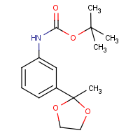 CAS:886361-42-8 | OR15419 | 3-(2-Methyl-1,3-dioxolan-2-yl)aniline, N-BOC protected