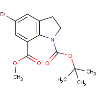 CAS: 860624-87-9 | OR305252 | 1-tert-Butyl 7-methyl 5-bromo-2,3-dihydro-1H-indole-1,7-dicarboxylate