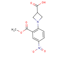 CAS: 1234873-83-6 | OR40091 | 1-[2-(Methoxycarbonyl)-4-nitrophenyl]azetidine-3-carboxylic acid