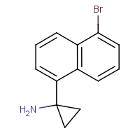 CAS: 1781089-64-2 | OR480168 | 1-(5-Bromonaphthalen-1-yl)cyclopropan-1-amine