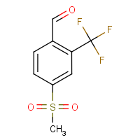 CAS:1215310-75-0 | PC01643 | 4-(Methylsulphonyl)-2-(trifluoromethyl)benzaldehyde