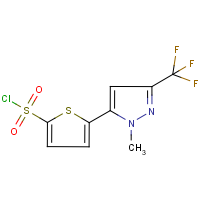 CAS:230295-11-1 | PC0273 | 5-[1-Methyl-3-(trifluoromethyl)-1H-pyrazol-5-yl]thiophene-2-sulphonyl chloride