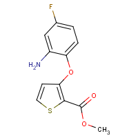 CAS:886360-59-4 | PC10227 | Methyl 3-(2-amino-4-fluorophenoxy)thiophene-2-carboxylate