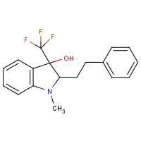 CAS: 439095-40-6 | PC10255 | 1-Methyl-2-phenethyl-3-(trifluoromethyl)-3-indolinol