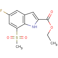 CAS:849035-86-5 | PC11191 | Ethyl 5-fluoro-7-(methylsulphonyl)-1H-indole-2-carboxylate