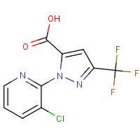CAS: 438450-39-6 | PC421141 | 1-(3-Chloropyridin-2-yl)-3-(trifluoromethyl)-1h-pyrazole-5-carboxylic acid