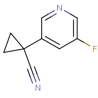 CAS: 1427010-14-7 | PC520370 | 1-(5-Fluoro-3-pyridyl)cyclopropanecarbonitrile