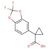 CAS: 862574-88-7 | PC52108 | 1-(2,2-Difluoro-2H-1,3-benzodioxol-5-yl)cyclopropane-1-carboxylic acid